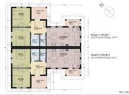 100 Semi Detached House Design Plans Skyline Bulgaria Plans 3737