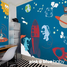 outer space wall decals awe inspring rocket wall decals for