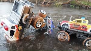 100 Monster Jam Toy Truck Videos S For Children Playing In Water S Video For
