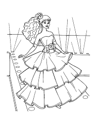 Barbie Doll Fashion Show Coloring Page Free Printable