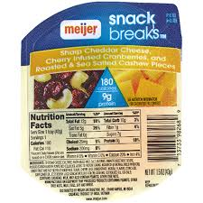 Meijer Artificial Christmas Trees by Meijer Snack Breaks Sharp Cheddar Cheese Cherry Infused