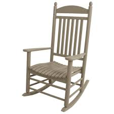 POLYWOOD Jefferson Teak Patio Rocker