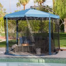 Mosquito Netting For 11 Patio Umbrella by Coral Coast 11 Ft Steel Offset Patio Umbrella With Detachable