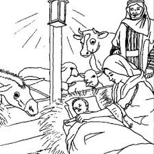 Bible Christmas Story Animals Welcoming The Birth Of Savior For World Coloring Pages