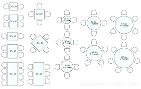 Standard Dining Table Sizes Restaurant Drawing Plan View Dimensions