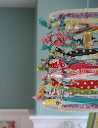 Make An Easy Fun Lampshade Out Of Scrap Fabric