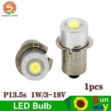 cnsunway led bulb torch light bulb l1w 3 18v p13 5s
