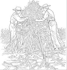 Home Coloring Pages Fall Corn Harvest Cornharvest 62988 Bytes