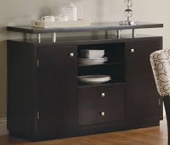 Contemporary Black Buffet Table