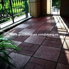 Balcony Flooring Waterproof China Wholesale Outdoor Non Slip Yellow Color Gymnastics Spring Floor Railing Shelf Balco