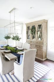 Blue And White Dining Room With Reclaimed Wood Hutch This Post Offers Several