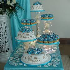 6 Tier Clear Wedding Cascade Cupcake Wedding Birthday Party Cake
