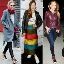 7 Ways To Wear High Top Sneakers Like Olivia Palermo Blake Lively And More