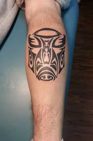 Tribal Leg Tattoo For Guys Photo