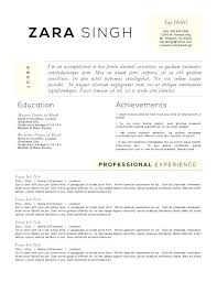 Accomplishments Section Resume Sample Examples With Personal