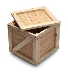 Download Wood Crate And Lid Stock Image Of Business Carton