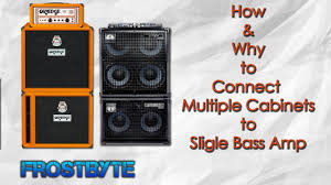 Ampeg V4 Cabinet Ohms by Connect Multiple Cabs To Single Bass Amp Youtube