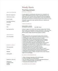 Educational Assistant Resume Teacher Sample Preschool Samples