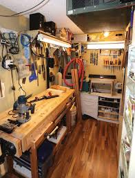 hobby shop in a walk in closet canadian woodworking magazine