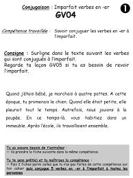 conjugaison imparfait verbes en er ppt télécharger