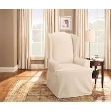 Sure Fit Cotton Duck Wing Chair Slipcover Lisle White Slipcover Wingback Host Chair Black Blue Ding Covers Round Back Room Chun Yi 2piece Stretch Jacquard Spandex Fabric Wing Armchair Slipcovers Tcushion For Walmart Fireside Floral Winsome Big Man Recliner Brown Power Boy Gray Wingbacks With Damask By Shelley Cube Target Pottery Bar Slipcovered Pattern Sewi Capri Captain Cdi Fniture