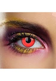White Mesh Halloween Contacts by Coloured Contact Lenses Red Eye Contacts One Day Pair Other