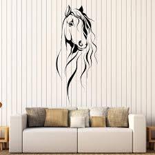 tianpengyuanshuai schöne pferdekopf wandaufkleber vinyl