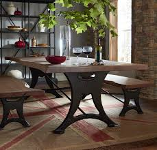 Organic Forge 80 Solid Wood Dining Table In Raw Walnut W Cast Iron