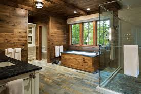 Rustic Bathtub Tile Surround by Awesome Rustic Bathroom Tile Designs On The Wall Of Modern Rustic