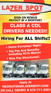 Class A CDL Drivers, Lazer Spot, Alpharetta, GA Crete Carrier Cporation Trucking Companies Local Truck Driving Jobs Toledo Ohio And Cdllife Dicated Lane Team Lease Purchase Dry Van Driver Delivery Cdl A Local Delivery Truck Driver Truckers Career Guide Where To Find Entrylevel No Experience Hshot Hauling With Ownoperator Jeff Ward Ordrive Owner Mesilla Valley Transportation Cdl Employment Drivejbhuntcom Straight At Jb Hunt Company And Ipdent Contractor Job Search