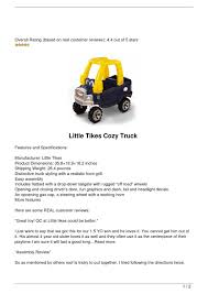 Buy Discount Little Tikes Cozy Truck By Kelly Atkins - Issuu Little Tikes Princess Cozy Truck Rideon 689991011563 Ebay Ride Rescue Coupe Easy Rider Review Giveaway Closed Simply Always Mommy A Kids Truck With The Durability Of Amazoncom Blue And Pink Walmartcom Dirt Diggers 2in1 Dump Deluxe Roadster Tikes Ride On Dump Lookup Beforebuying