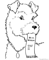 Free Dog Coloring Page For Kid