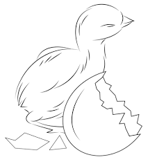 Click To See Printable Version Of Baby Chick Hatching From Egg Coloring Page