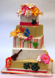 Hawaiian Tropical Wedding Cake