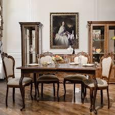 alesie barock esszimmer set esstisch ausziehbar mit stühlen eiche tabakfarbe