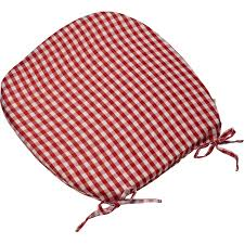 Details About Gingham Check Tie On Seat Pad 16