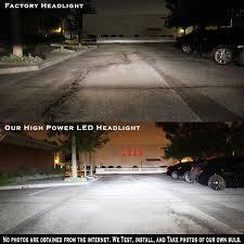 4x dual beam headlight fog light bulb combo 9004 h3 led b