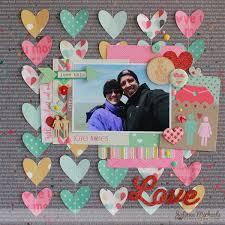 Gossamer Blue And Elles Studio Blog Hop Love Layout ELLE
