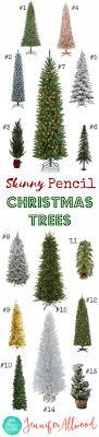 Skinny Pencil Christmas Trees
