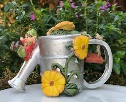 Image Is Loading Miniature FAIRY GARDEN ENCHANTED FOREST Pixie Watering Can