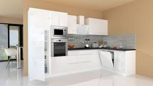 winkelküche küchenzeile küche l form küche grifflos weiß 345x172 cm respekta
