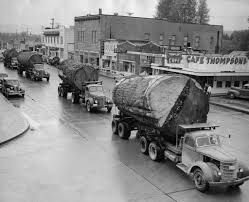 Log Truck Caravan. | Caption: A Caravan Of Trucks Carrying M… | Flickr