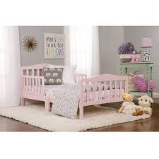 Girl Toddler Bed Sturdy Bedroom Furniture 2 Safety Rails Low
