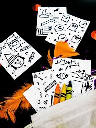DIY Mini Halloween Doodle Books Free Printables Cute Art Project For Kids Or Non
