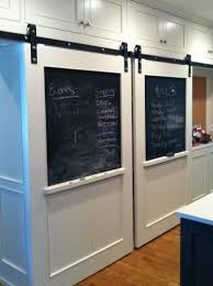 Beautiful Stylish Barn Doors With Chalk Board. Could Put Anything ... Exterior Sliding Barn Doors Door Hdware For Garage Florida And Repairsliding Remodelaholic 35 Diy Rolling Ideas Built A Sliding Screen Door The Journal Board Home Best On Screen Patio How To Make A Neat Glass 25 Doors Ideas On Pinterest Barn Cheap All 12 Ebony Jacobean Stain For Family Room Wood Front Amazing Front Photos Style