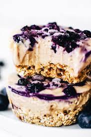 No Bake Mini Blueberry Cheesecakes