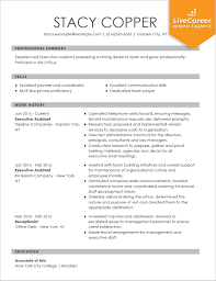 Best Administrative Assistant Resume Examples Executive Sample