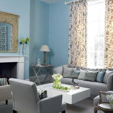 They Make This Work So Well Blue And Gray Living Room With Tan Accents The Exact Color Scheme We Are Going For I Like Set