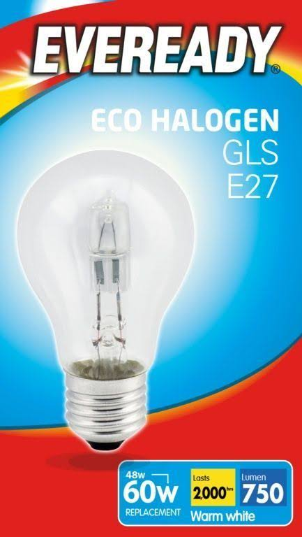 Eveready Eco Gls Light Bulb - Warm White, 48W