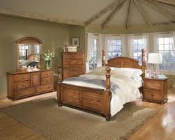 Solid Pine Bedroom Furniture With Grey Paint Bedroom Wall And